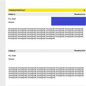 Erweiterter Firmeneintrag (Hauptprogramm & App)